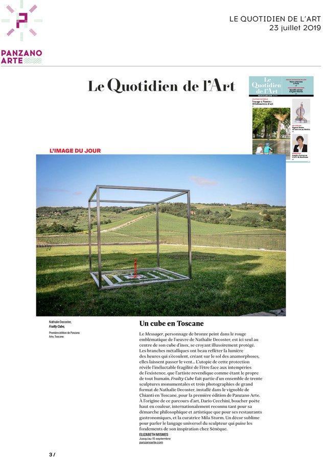 Le Quotidien de l'Art<br>23/07/2019